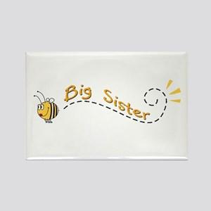 Big Sister Bee Rectangle Magnet