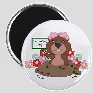 Groundhog Girl Magnet
