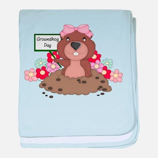 Cute Groundhog baby blanket