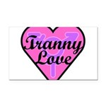 Tranny Love Rectangle Car Magnet