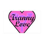 Tranny Love 35x21 Wall Decal
