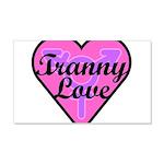 Tranny Love 20x12 Wall Decal