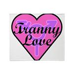 Tranny Love Throw Blanket