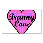 Tranny Love Sticker (Rectangle 10 pk)