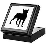 Boston Terrier Silhouette Keepsake Box