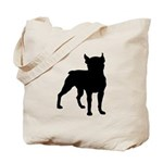 Boston Terrier Silhouette Tote Bag