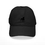 Boston Terrier Silhouette Black Cap