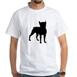 Boston Terrier Silhouette White T-Shirt