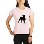 Boston Terrier Silhouette Performance Dry T-Shirt