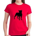 Boston Terrier Silhouette Women's Dark T-Shirt