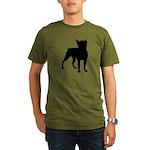 Boston Terrier Silhouette Organic Men's T-Shirt (d