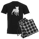 Boston Terrier Silhouette Men's Dark Pajamas