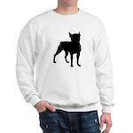 Boston Terrier Silhouette Sweatshirt