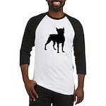 Boston Terrier Silhouette Baseball Jersey