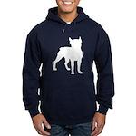 Boston Terrier Silhouette Hoodie (dark)
