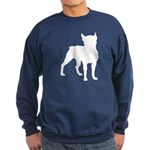 Boston Terrier Silhouette Sweatshirt (dark)