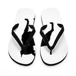 Boston Terrier Silhouette Flip Flops