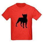 Boston Terrier Silhouette Kids Dark T-Shirt