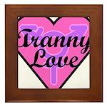 Tranny Love Framed Tile
