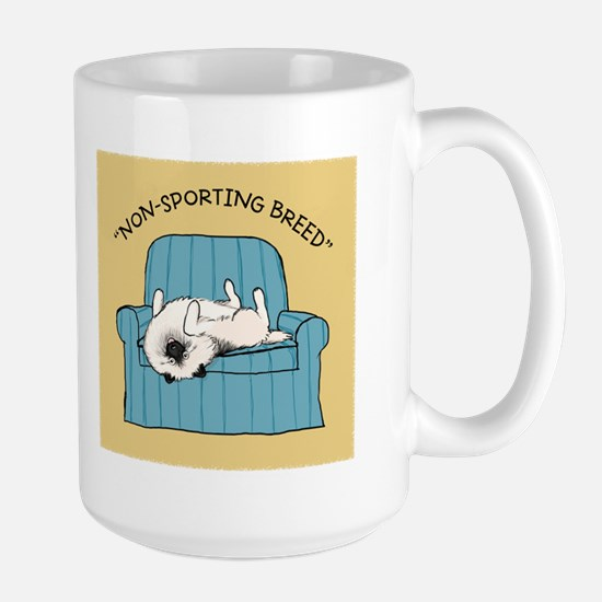 "Keeshond ""Non-Sporting Breed"" Large Mug"