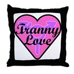 Tranny Love Throw Pillow