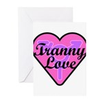 Tranny Love Greeting Cards (Pk of 10)