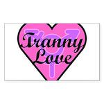 Tranny Love Sticker (Rectangle)