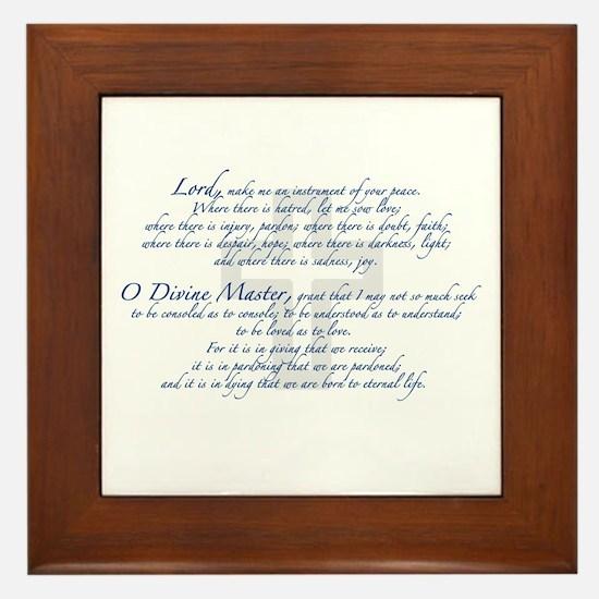 Prayer of St. Francis Framed Tile