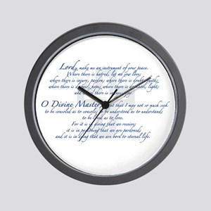Prayer of St. Francis Wall Clock