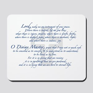 Prayer of St. Francis Mousepad