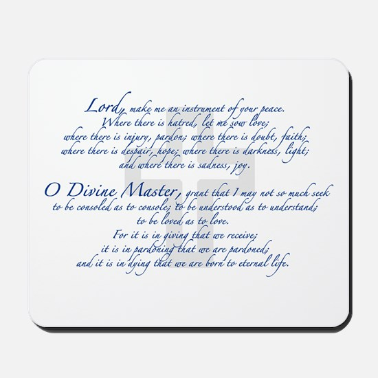 Prayer of St. Francis Mousepad