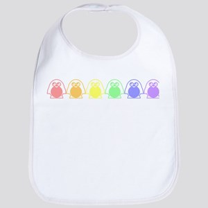 gay penguins Cotton Baby Bib