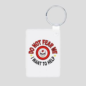 FEAR NOT Aluminum Photo Keychain