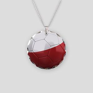 Team Poland Necklace Circle Charm