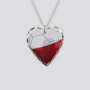 Team Poland Necklace Heart Charm