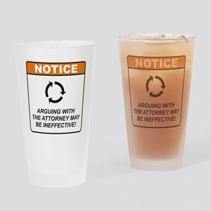 Attorney / Argue Drinking Glass