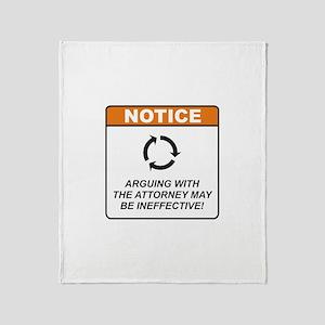 Attorney / Argue Throw Blanket