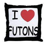 I heart futons Throw Pillow