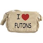 I heart futons Messenger Bag