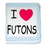 I heart futons baby blanket