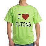 I heart futons Green T-Shirt