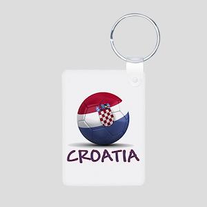 Team Croatia Aluminum Photo Keychain