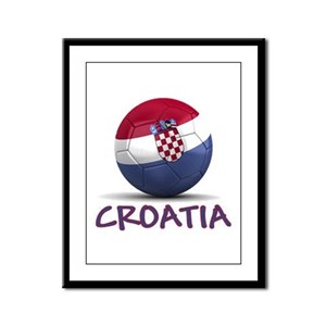 Team Croatia Framed Panel Print