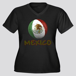 Team Mexico Women's Plus Size V-Neck Dark T-Shirt