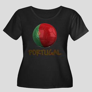 Team Portugal Women's Plus Size Scoop Neck Dark T-