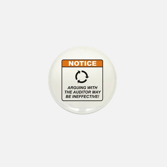 Auditor / Argue Mini Button