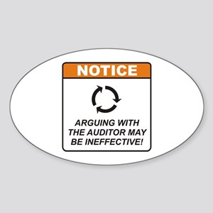 Auditor / Argue Sticker (Oval)