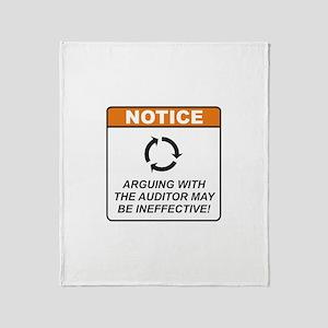 Auditor / Argue Throw Blanket