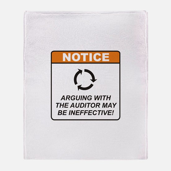 Auditor / Argue Throw Blanket