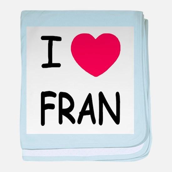 I heart fran baby blanket